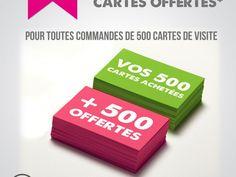 Offre du mois – 500 Cartes offertes Packing, Printing, Carte De Visite, Cards, Bag Packaging