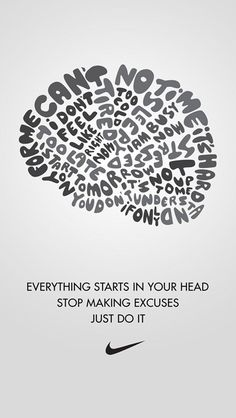 """Because """"Just do it"""" posters are one of my favorite, I decided to make a list of the best Nike motivation posters."""