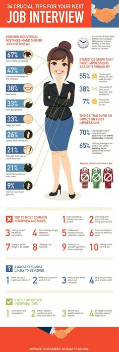 infographic infographic : 34 Crucial Tips For Your Next Job Interview. Image Description infographic : 34 Crucial Tips For Your Next Job Interview Cv Inspiration, Job Interview Tips, Job Interviews, Interview Techniques, Interview Preparation, Teaching Interview, Outfits For An Interview, Job Interview Clothes, College Interview Outfit