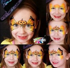 Discover recipes, home ideas, style inspiration and other ideas to try. Face Painting Halloween Kids, Clown Face Paint, Halloween Make Up, Halloween Face, Pumpkin Face Paint, Pumpkin Faces, Face Painting Tutorials, Face Painting Designs, Butterfly Face Paint