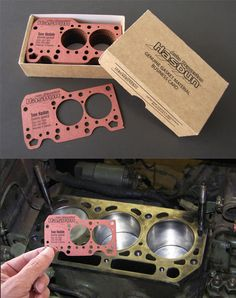Creative Laser Cut Business Card Design For An Engine Parts Supplier