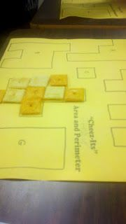 area and perimeter with cheese-its!