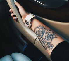 Tattoo Black White Rose
