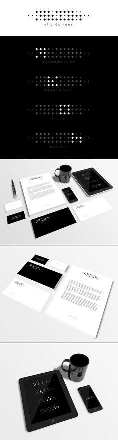 Client : V2 Créations / Création du logo, charte graphique et supports de communication / Nicolas LEONARD Graphiste freelance illustrateur