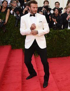 David Beckham White Tuxedo