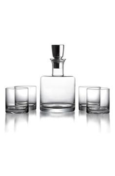 Free shipping and returns on American Atelier 'Linus' Decanter & Whiskey Glasses (5-Piece Set) at Nordstrom.com. A stately decanter and four matching whiskey glasses make a bold, refined addition to your home bar or a perfect gift for any whiskey connoisseur.