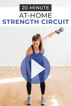 Strength train at home using a set of dumbbells! Follow along with this 30 minute workout video!