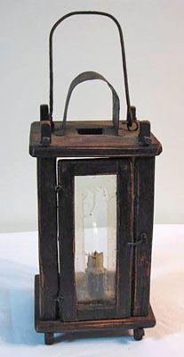 19th C Treen Barn Lantern.