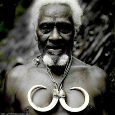 Chieftain Jean-Denis with wild pig tusks, Ambrym, Vanuatu by Eric Lafforgue Vanuatu, We Are The World, People Around The World, Maluku Islands, Eric Lafforgue, World Cultures, South Pacific, Interesting Faces, Papua New Guinea