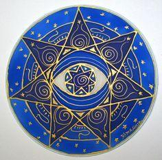 De derde oog chakra-mandala is gemaakt met een 7 puntige ster die spiritualiteit, innerlijke bewustwording, inzicht en wijsheid. Als wij binnen gaan en de focus op onze verbinding met het universum worden onze waarheden onthuld. Deze mandala is geschilderd op een 10 zijde overdekte hoepel met zijde verven en gouden weerstaan. Al mijn kunstwerk is gemaakt met de bedoeling te helpen van degenen die ervoor kiezen, om geestelijk evolueren. Mandalas maken prachtige hulpmiddelen voor meditatie en…