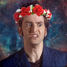 Always repin David Tennant in a flower crown. I think this tag has become my new favorite thing.