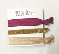 A personal favorite from my Etsy shop https://www.etsy.com/listing/263513462/bridesmaid-hair-tie-favorbridetribe-wine