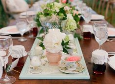 Anthro teacups   Claire & Mitchell on Borrowed & Blue.  Photo Credit: Jen Fariello Photography | Belle Haven | Shindig | Southern Blooms