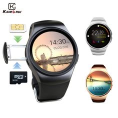 Best Price $47.69, Buy Kaimorui KW18 Bluetooth Smart Watch Support SIM Card Original Men Business SmartWatch with Heart Rate For Android IOS Phone