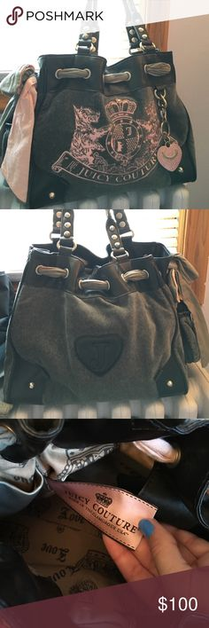9c6beb84780f Juicy couture purse Juicy couture pink grey and black day dreamer bag! Used  a few