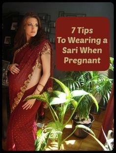 how to wear a sari when pregnant