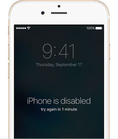 If you forgot the passcode for your iPhone, iPad, or iPod touch, or your device is disabled - Apple Support