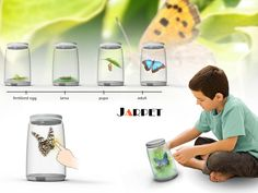 Jarpet projects the 3D images of pets, and can interact with kids by multi-sensory technology.