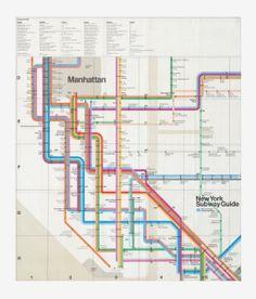 Creative Cartography, York, Subway, Map, and Massimo image ideas & inspiration on Designspiration Nyc Subway Map, New York Subway, Intelligent Transportation System, Massimo Vignelli, City Icon, Map Design, Layout Design, Print Design, Manhattan New York