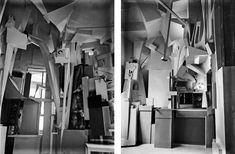 La Merzbau original, fotos de 1933 por Kurt Scwitters. La Merzbau original, fotos de 1933 por Kurt Schwitters