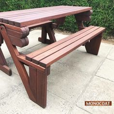 Chocolate Rubio Monocoat, Outdoor Furniture, Outdoor Decor, Picnic, Bench, Exterior, Chocolate, Wood, Summer
