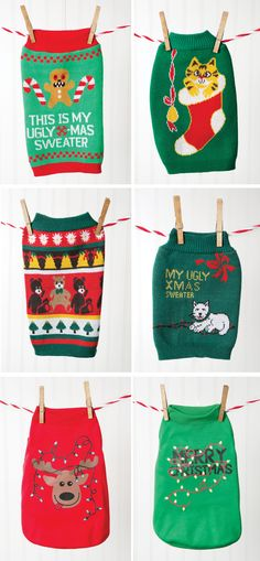 Throw an ugly Christmas sweater party! Now your pet can join the fun with their own ugly Christmas sweater from PetSmart.