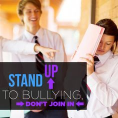 When you see someone being bullied, be brave and STAND UP for them. Bullies have been known to back off when others stand up for victims. #TakeAction2EndBullying