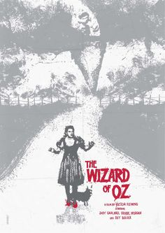 The Wizard of Oz - movie poster by Daniel Norris  --  book by: Frank L. Baum