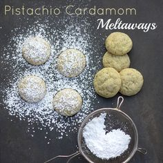 Pistachio+Cardamom+Meltaways - just made these tonight and they are to die for! Just need a little bit of salt, not included in the recipe.