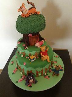 Winnie the poo cake - by Bev21 @ CakesDecor.com - cake decorating website