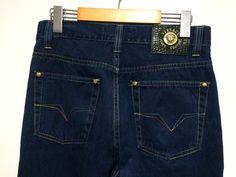039d3873 Vintage Rare VERSACE Rainbow Stitched Jeans sz US 31 #fashion #clothing  #shoes #accessories #mensclothing #jeans (ebay link)