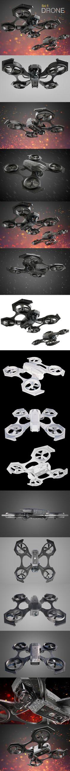 Drone. 3D Vehicles