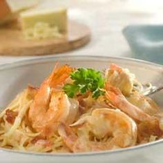 Shrimp Rosa with Fettucine