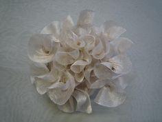 New Hand Curled Silk Fabric Flower