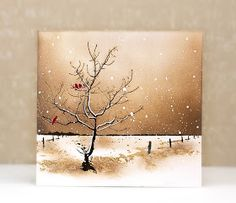 VIDEO: Colorful Scenic Stamping (four color schemes) Watercolor Christmas Cards, Watercolor Cards, Watercolor Paintings, Christmas Paintings, Christmas Art, Mini Toile, Penny Black Cards, Winter Painting, Pics Art