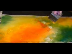 Blending Colours, Acrylfarbe verblenden, Tutorial - YouTube