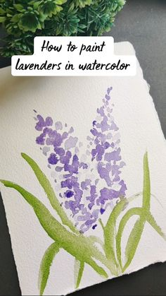 Watercolor Paintings For Beginners, Watercolor Art Lessons, Watercolor Art Paintings, Watercolor Flowers, Doodle Art Designs, Art Painting Gallery, Sketches, Tutorials, Draw
