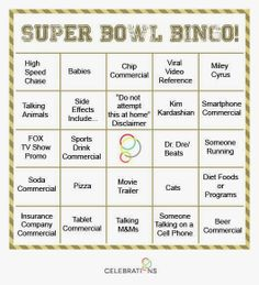 Easy tip for a #SuperBowl #party: If you love the ads as much as the on-field action, make #commercial breaks even more entertaining with these Super Bowl commercial party #games.  #sb48 #seahawks #broncos #NFL #event #partyplanning #football #entertaining #sportsfans www.thestyleref.com