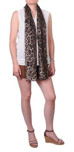 Etole 100% cachemire impression léopard