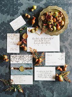 Oh So Beautiful Paper: Ginny + Andrew's Elegant Old World Wedding Invitations