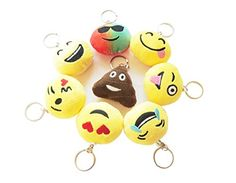 Go Beyond 8 Pack Soft Stuffed Emoji Mini Plush Pillows  Keychain Decorations  Best Kids Gift and Party Supplies Favors >>> Visit the image link more details. Note:It is affiliate link to Amazon.