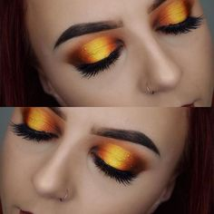 WEBSTA @laurasmakeupjourney Sunset halo eye now up on my channel Eyes: @katvondbeauty @thekatvond saint and sinner palette Brows: @anastasiabeverlyhills @norvina dip brow pomade medium brown