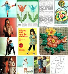 Vintage Golden Hands 26 Craft Magazine by TheAtticofKitsch Vintage Knitting, Vintage Sewing, Retro Outfits, Kids Outfits, Hippie Chick, Embroidery Transfers, Retro Clothing, Yarn Bombing, Retro Home Decor
