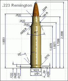 223 Remington blueprint diagram