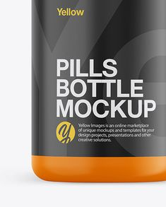 Matte Plastic Pills Bottle Mockup - Front View