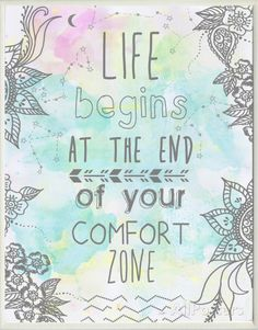 Life Begins at the End of Your Comfort Zone Wood Sign at AllPosters.com