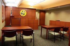 Did you know that we have a one-of-a-kind mock courtroom in our office? We use this to prepare our attorneys, our experts and our clients for trial so they are 100% ready!