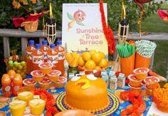 Disney's Orange Bird themed birthday party.