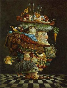 james christensen art - Burden of the Responsable Man