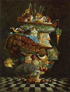 james christensen art - Burden of the Responsable Man